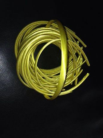 10MM YELLOW SATIN COVERED HEADBAND
